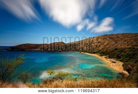 Hanauma Bay Nature Preserve In Oahu Hawaii