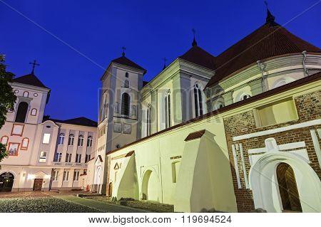 Kaunas Priest Seminary at night. Kaunas, Lithuania.
