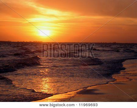 Sunset over Sanibel Island