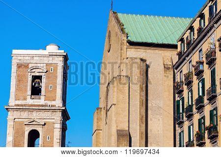 Santa Chiara church in Naples. Naples Campania Italy ** Note: Visible grain at 100%, best at smaller sizes