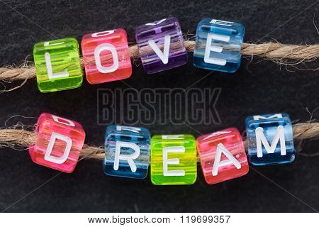 Love Dream Word Concept
