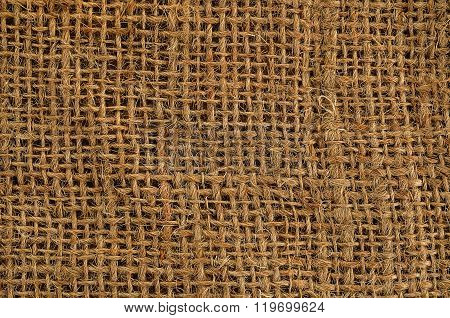 gunny sack hessian close up for background