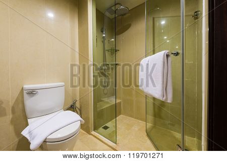 Clean And New Hotel Bathroom