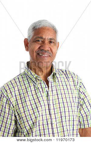 Conjunto de homem minoria sênior em um fundo branco