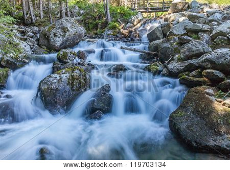 Mounatin Stream In South Tyrol