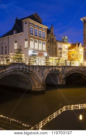 Bridge On Dyle River In Mechelen