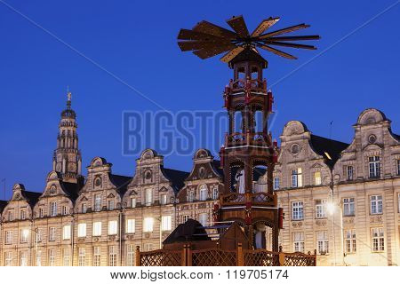 Christmas On Grand Place In Arras