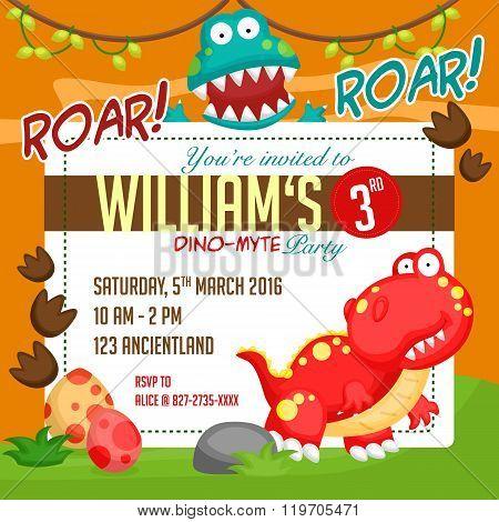 Dinosaur party invitation