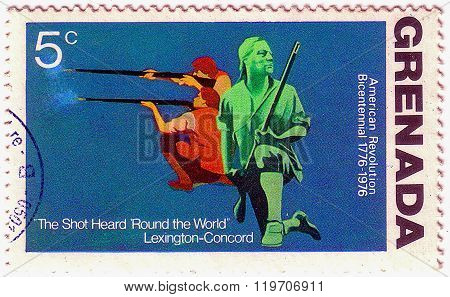 Grenadines Of Grenada - Circa 1976: A Stamp Printed In Grenada From The