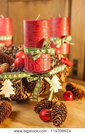 Advent Wreath In Country Style