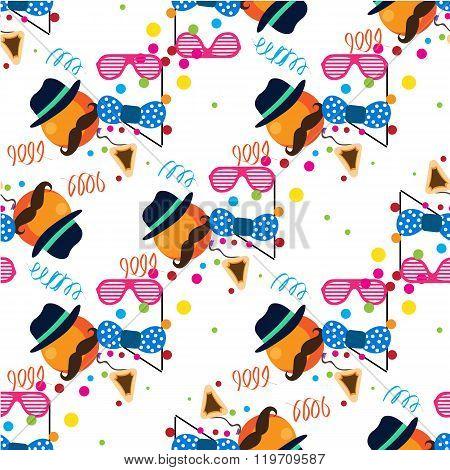 Seamless holiday Purim pattern