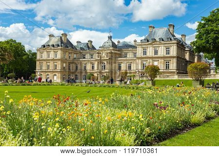 Summer In Palais Royal In Paris, France