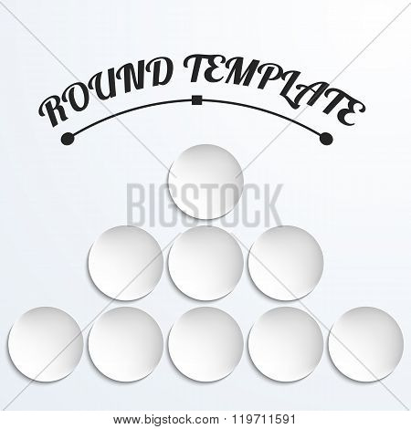 Group of Empty white paper plate. Vector round plate Illustration on white background. Plate background for your design.
