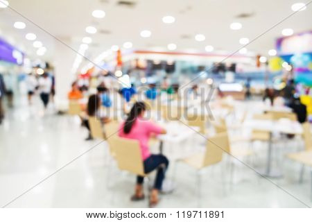 Blurred shopping mall, cafeteria