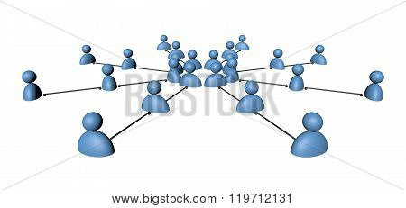 Linking entities. Network, networking, social media, internet communication abstract. Web of gold wi