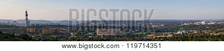 Late afternoon panorama of Pretoria from Fort Klapperkop