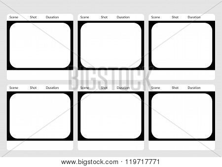 Traditional Television 6 Frame Storyboard Template