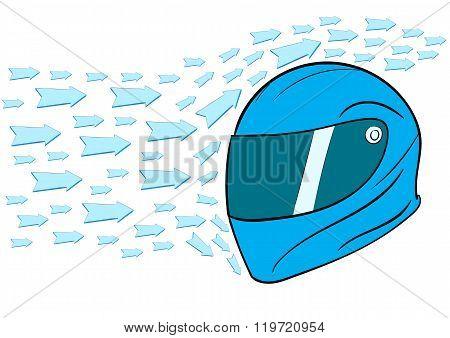 Aero dynamic helmet