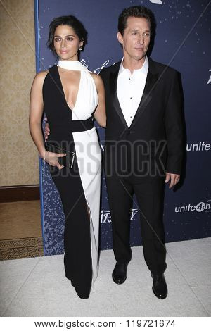 LOS ANGELES - FEB 25:  Camila Alves McConaughey, Matthew McConaughey at the 3rd Annual unite4:humanity at the Montage Hotel on February 25, 2016 in Beverly Hills, CA