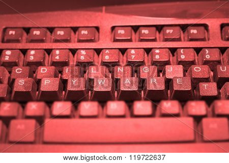Computer Keyboard With The Word Malware Elevated