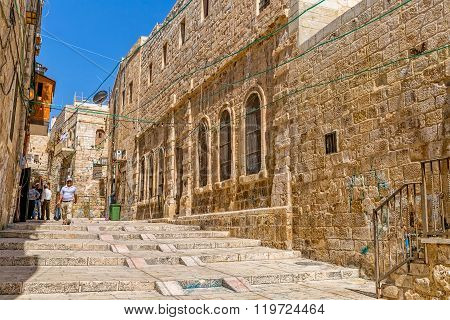 Staircase street in Jerusalem
