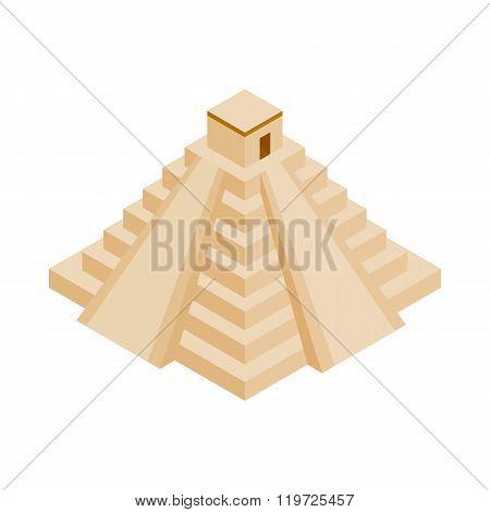 Mayan pyramid in Yucatan icon