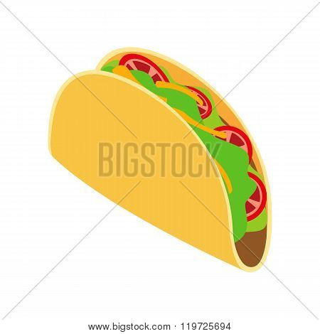 Tortilla wrap with vegetables icon