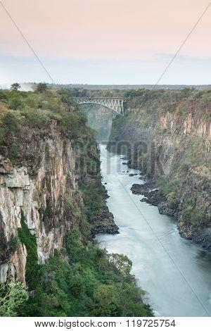 Batoka Gorge and the Victoria Falls bridge.