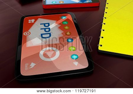 3D Tablet Visualizing Ppd Concept