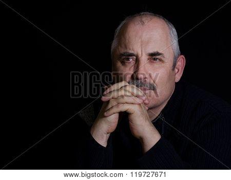 Portrait of a thoughtful Caucasian man