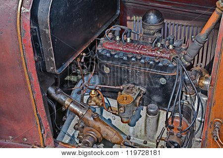 Engine Of Classic Car Fiat 501 S (1921)