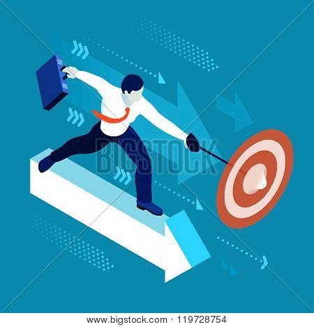 Business Graph 04 People Isometric