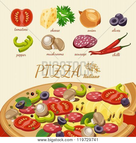 Pizza. Pizzeria poster