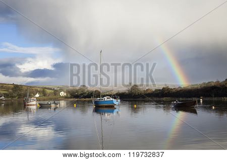 Sailing Boats On The River Avon At Averton Gifford
