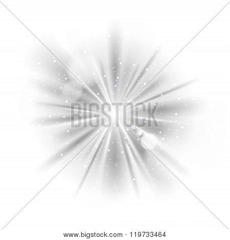 Black and white light sunburst background.