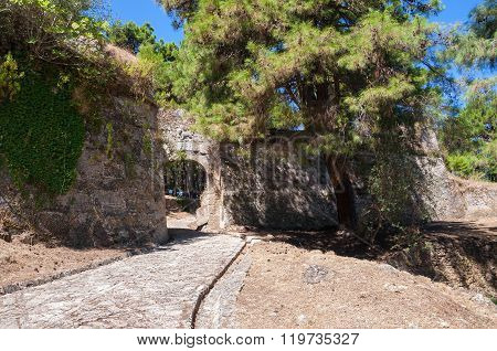 Paved Path To The Venetian Castle In Zakynthos City
