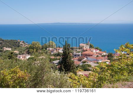 View Of Zante Town On Zakynthos
