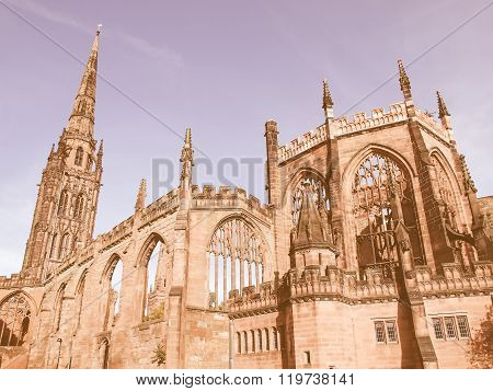 Coventry Cathedral Ruins Vintage