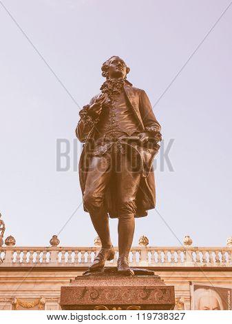 Goethe Denkmal Leipzig Vintage