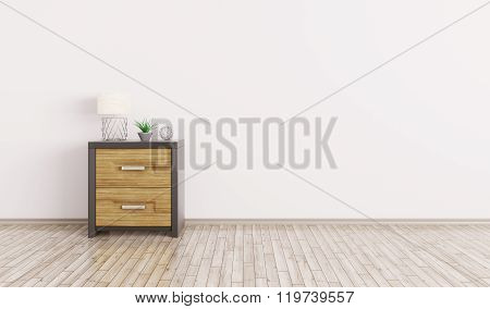 Interior Of A Room With Cabinet 3D Render