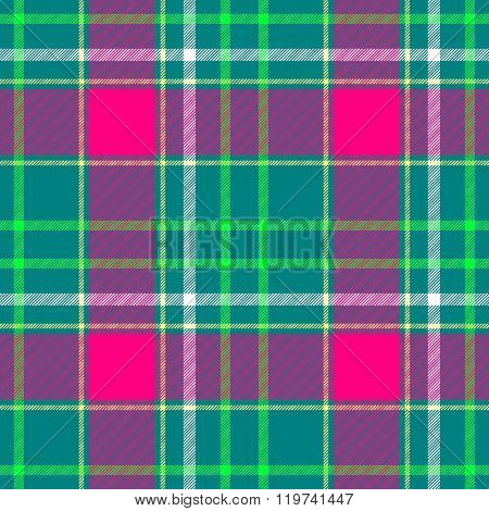 Green Pink White Check Diamond Tartan Plaid Fabric Seamless Pattern Texture