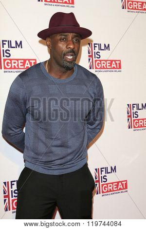 LOS ANGELES - FEB 26:  Idris Elba at the The Film is GREAT Reception Honoring British 2016 Oscar Nominees at the Fig and Olive on February 26, 2016 in West Hollywood, CA
