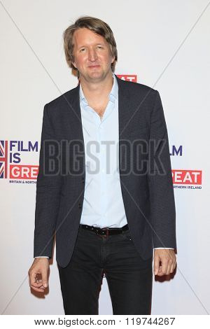 LOS ANGELES - FEB 26:  Tom Hooper at the The Film is GREAT Reception Honoring British 2016 Oscar Nominees at the Fig and Olive on February 26, 2016 in West Hollywood, CA