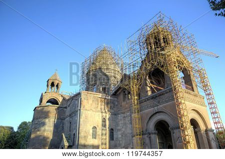 Etchmiadzin Cathedral church. Vagharshapat, Armenia