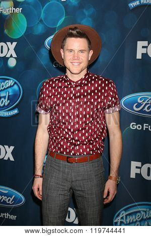 LOS ANGELES - FEB 25:  Trent Harmon at the American Idol Farewell Season Finalists Party at the London Hotel on February 25, 2016 in West Hollywood, CA