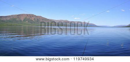Panorama Mountain Lakes On The Putorana Plateau.