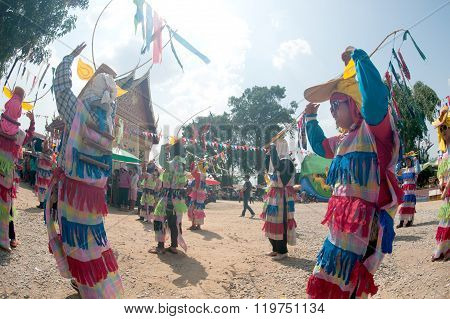 Bun Duean Hok Traditional And Traditional Of Phi Khon Nam Festival.
