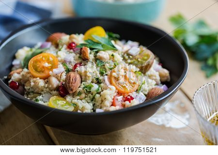 Couscous With Pomegranate And Almond Salad