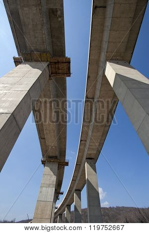 Pillars of viaduct
