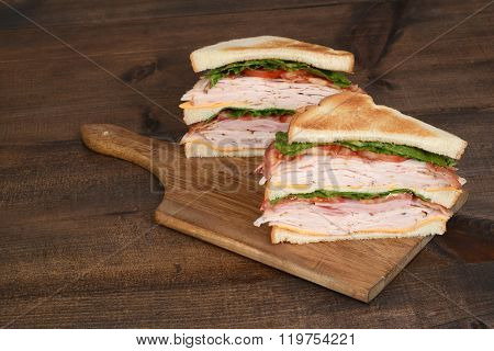 toasted chicken club sandwich